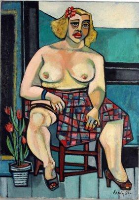 Robert Brady. Woman In Plaid Skirt.