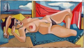 Robert Brady. Nude On Beach.
