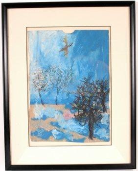 Reginald Gee. Soaring Bird Painting.