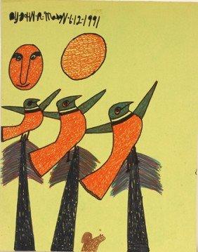 Jon Mason. 3 Birds Over Trees.