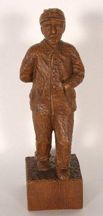 K.W. Walking Man Carving.