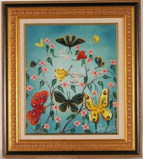 Wilfrid Daleaus. Butterflies & Flowers.