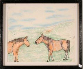 S.L. Jones. Horse In The Field.
