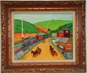 Jack Savitsky. Village Of Mauch Chunk, Pa.
