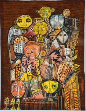 Martin Rosenthal. Guitar Man With Other Figures.