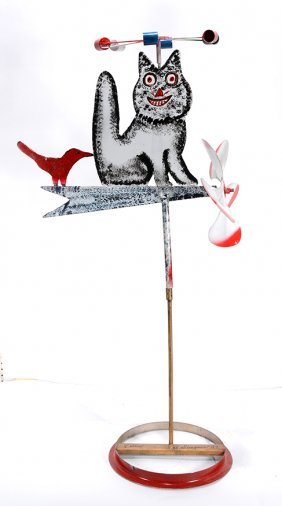 Vollis Simpson. Cat & Bird Whirligig.