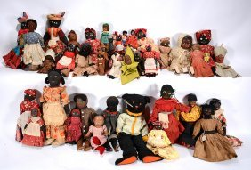 Lifetime Collection Of 41 African American Dolls.