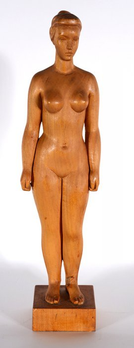 Anonymous Nude Woman Carving.