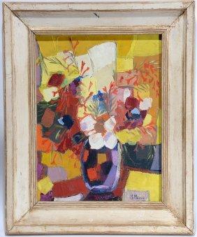 M. Manuel. Flowers In Vase.