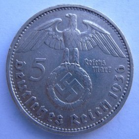 Silver Coin. German Iii Reich, 5 Mark Coin Made I