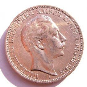 German Empire Silver Coin - 3 Mark.
