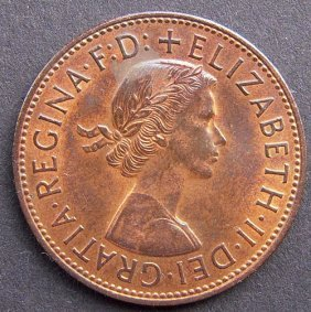 Bronze Coin - One Penny.