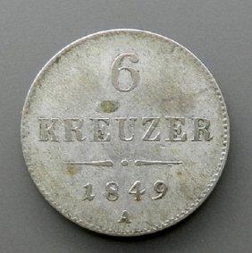 Silver Coin - 6 Kreutzer Austria 1849.