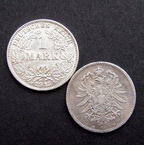 Silver 1 Mark Coin From Deutsches Reich. Very Goo