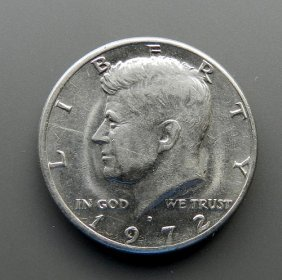 Half Dollar Kennedy From 1972. United States Of A