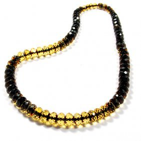 Beautiful Necklace Made From Two Shades Faceted
