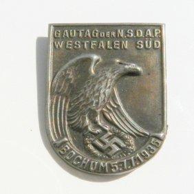 Iii Reich Medal Gau Day - N.s.d.a.p. Day At Bochu