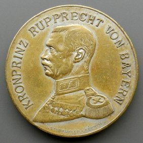 German Empire Medal With Image Of Prince Rupprech