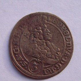 Silver Coin - 3 Kreuzer From 1696.roman - German