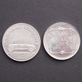 Antique Car Coin From 1970-75. With Image Of Dues