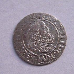 Silver Coin - 3 Kreuzer From 1670.roman - German