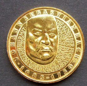 10 Mark Silver Gold Plated Coin From Germany