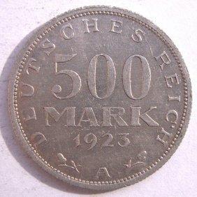 Metal Coin - 500 Mark