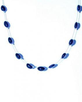 Elegant String From Deep Blue Oval Form Caribbean