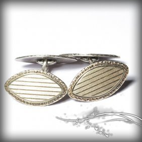 Retro Cufflinks Made From 800 Plate Mark Silver A