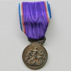 Meda For Merit In War Inscription On Medal Human