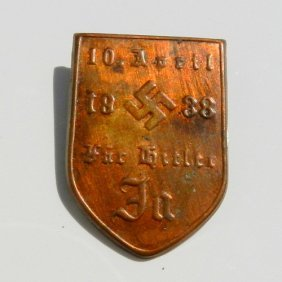 Iii Reich Medal - Pin Designed For Election To Vo