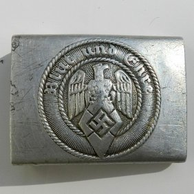 Soldierly Belt Buckle From German Hilterboys Wwii