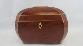 Chinese Cherry Wood Tea Safe