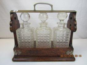 19th Century English Whiskey Bottle Set