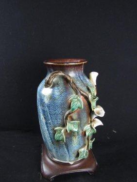 Very Old Glazed Pottery Vase