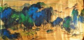 A Landscape Chinese Painting, 'zhang Da Qian' Mark