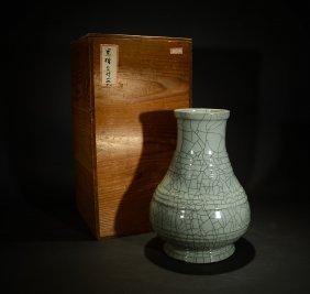 Qianlong Mark, A Ge Ware Type Vase
