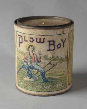 Plow Boy Chewing And Smoking Tobacco Tin