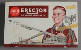 Vintage Gilbert Erector Rocket Launcher Set