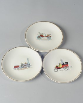 Three Early 20th C. French Plates