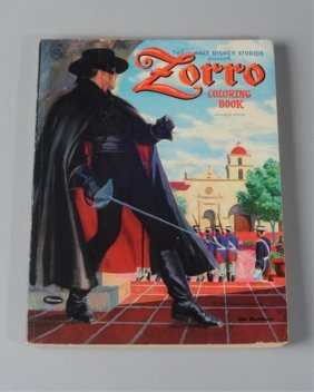 Walt Disney Zorro Coloring Book