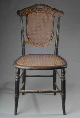 Late 19th C. Painted Side Chair