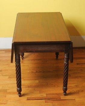 19th C. Mahogany Drop Leaf Table