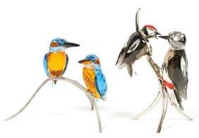 Swarovski Crystal Bird Groups Two