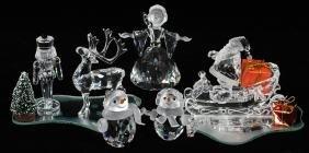 Swarovski Crystal Holiday Figurines 8 Pieces