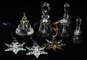 Group Of Seven Swarovski Crystal Items