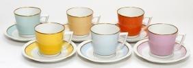 Royal Copenhagen Porcelain Demitasse Cups & Saucers