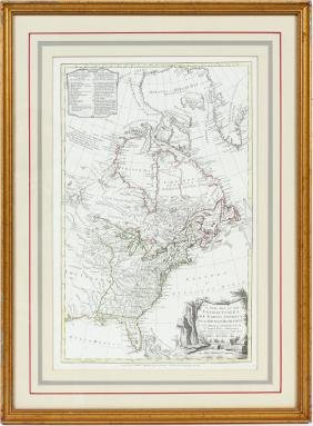 Samuel Dunn Hand Colored Printed Map