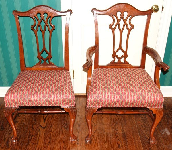 020030: FINCH FINE FURNITURE CO. MAHOGANY DINING SET