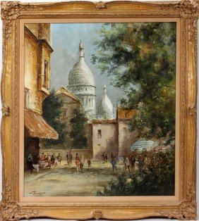 TRIPMAKER, OIL/CANVAS, MOMART NEAR SACR� COEUR